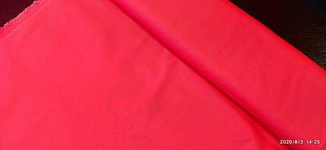 Textil - bavlna červená - piké - 12222542_