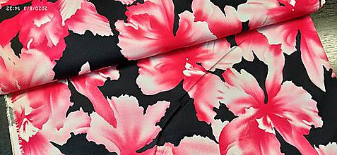 Textil - vzorovaná bavlna - piké - 12222601_