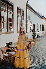 Šaty - žlté madeirové šaty Poľana - 12222223_