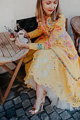 Šaty - žlté madeirové šaty Poľana - 12222225_
