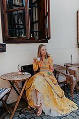 Šaty - žlté madeirové šaty Poľana - 12222226_