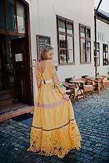 Šaty - žlté madeirové šaty Poľana - 12222228_