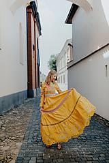 Šaty - žlté madeirové šaty Poľana - 12222231_
