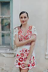 Šaty - krátke vyšívané šaty Poľana - 12222242_