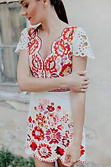 Šaty - krátke vyšívané šaty Poľana - 12222246_