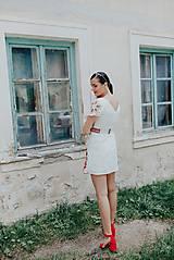 Šaty - krátke vyšívané šaty Poľana - 12222247_