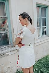 Šaty - krátke vyšívané šaty Poľana - 12222249_