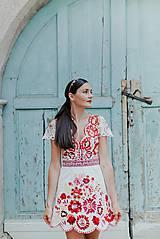 Šaty - krátke vyšívané šaty Poľana - 12222250_