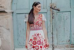 Šaty - krátke vyšívané šaty Poľana - 12222251_