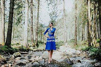 Šaty - modré úpletové šaty Sága krásy - 12222270_