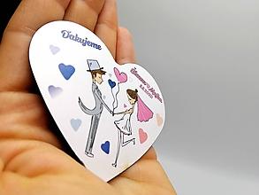 Darčeky pre svadobčanov - Svadobné magnetky v BERIEME SA II. - 12221383_