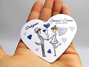 Darčeky pre svadobčanov - Svadobné magnetky v BERIEME SA I. - 12221405_