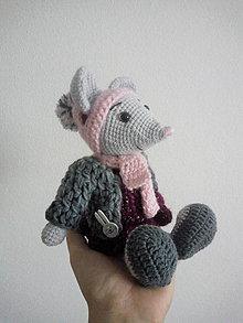 Hračky - Myška s garderóbou - 12220543_