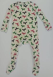 Detské oblečenie - Dupačky/overal so zipsom biobavlna (9 - 18 mesiacov) - 12221064_