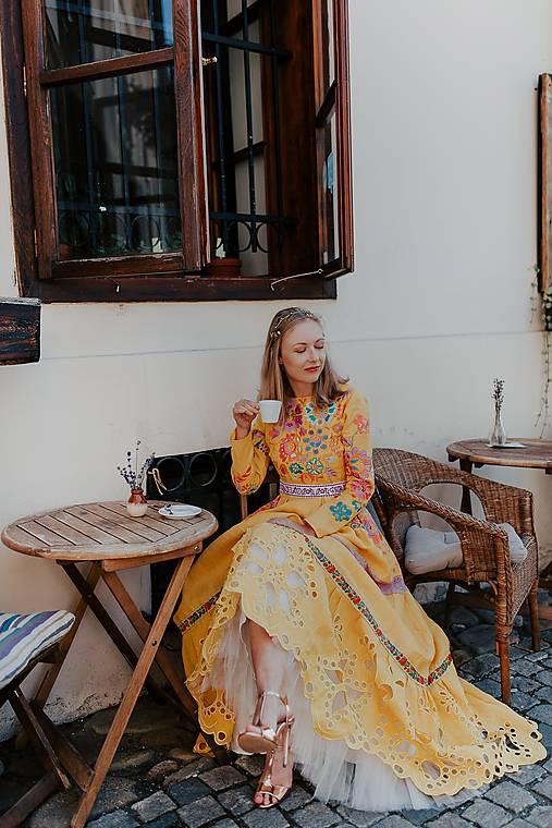 žlté madeirové šaty Poľana
