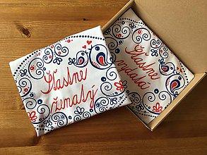 """Tričká - Maľované tričká pre mladomanželov s ľudovým motívom a nápismi : (""""šťastne vydatá"""" a """"šťastne ženatý"""") - 12222764_"""