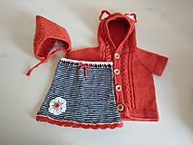 Detské oblečenie - Pruhovaná suknička - 12220773_
