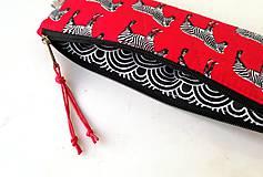 Taštičky - Peračník Zebry tmavočervené - 12222564_