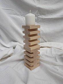 Dekorácie - Stolové svietniky z bukového dreva - veľké - 12221747_