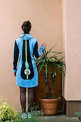 Šaty - Teplákové mini šaty Apex - 12221852_