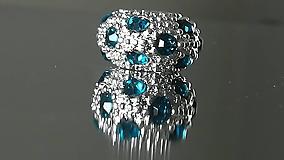 Korálky - Rondelka štrasová na náramok PANDORA - 12222978_