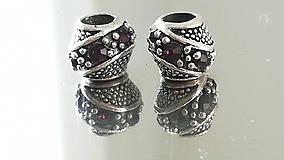Korálky - Rondelka štrasová na náramok PANDORA - 12223037_