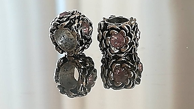 Korálky - Rondelka štrasová na náramok PANDORA - 12223055_