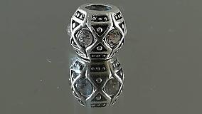 Korálky - Rondelka štrasová na náramok PANDORA - 12223091_