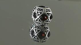 Korálky - Rondelka štrasová na náramok PANDORA - 12223108_