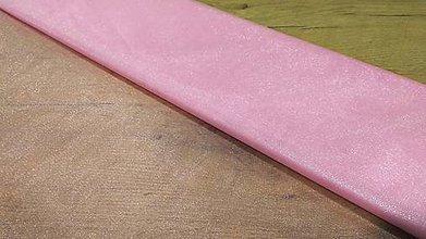 Textil - Tyl s leskom -stredná hrúbka - ružový - 12223171_