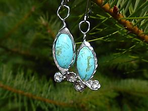 Náušnice - True TYRKYS-Tiffany Art-naušnice - 12224739_