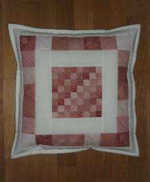 Úžitkový textil - Obliečka na vankúšik (ružovo-malinová) - 12214080_
