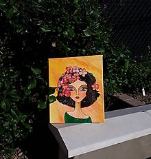 Obrazy - Žena, akryl, 25 x 30 cm - 12223801_