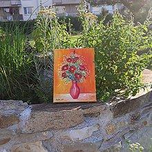 Obrazy - Obraz: Kvety, acryl, 18 x 24 cm - 12223849_