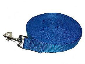 Pre zvieratká - Vodítko stopovacie modré (Š: 2,5cm) - 12224703_