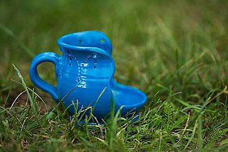 Nádoby - Odkladač  varešky (Modrá) - 12224479_