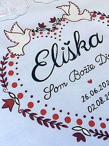 Detské oblečenie - Košielka na krst - folklórne srdiečko - červená verzia - 12222905_