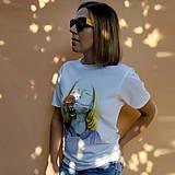 Tričká - Dreaming - biele tričko - 12224673_