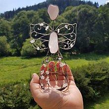 Dekorácie - Cínovaný anjel stredný 15 cm (skladom) (Ruženín) - 12225410_