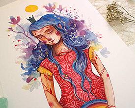 Kresby - Dievča s dúhou - 12226349_