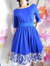 Šaty - FLORAL FOLK - šaty ľudové s kruhovou sukňou a vačkami - 12226744_