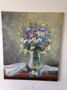 Obrazy - Zatišie lúčne kvety - 12225700_