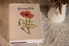 Papiernictvo - Ručne maľovaná KRONIKA s makmi - 12225345_
