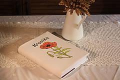 Papiernictvo - Ručne maľovaná KRONIKA s makmi - 12225346_