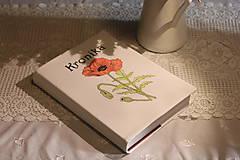 Papiernictvo - Ručne maľovaná KRONIKA s makmi - 12225349_