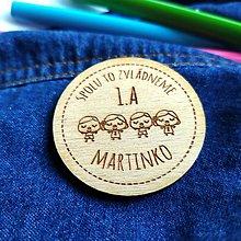 Drobnosti - Odznaky/magnetky pre deti do školy - 12226560_