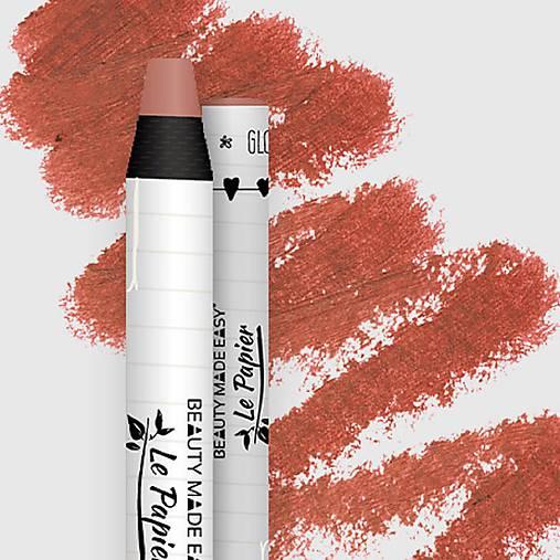 Prírodný rúž v papierovom obale Le Papier (Prírodný rúž v papierovom obale Le Papier, lesklý, 6g – Dusty Rose)
