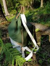 Batohy - Batoh - Paprade (100% bavlnený kanvas + ľan) - 12225753_