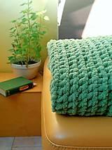 Úžitkový textil - Deka Zelená lúka  - 12224832_
