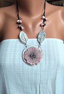 Náhrdelníky - Bielomodrý náhrdeľník - 12225915_